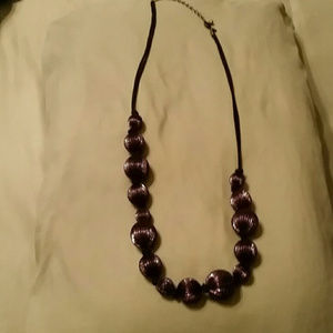 Chico's  ♡Purple ♡ and Black Necklace